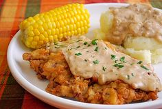 Chicken Fried Steak & Gravy- I thought I cooked it great...until I read this recipe. Something so simple as cayenne pepper in the breading?! And the chicken broth in the gravy...if you haven't been fixing it this way, you're missing out. This is Awesome! My favorite pinterest recipe by far!