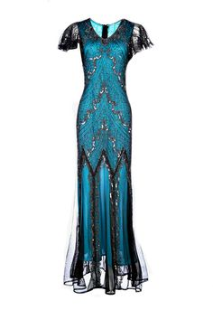 A personal favourite from my Etsy shop https://www.etsy.com/uk/listing/460835402/evelyn-blue-beaded-flapper-dress-1920s