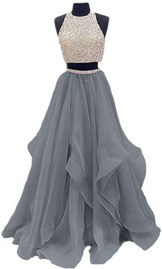 2017 Two Piece Floor Length Organza Prom Dre.Dressytailor 2017 Two Piece Floor Length Organza Prom Dre. Prom Dresses Two Piece, Pretty Prom Dresses, Hoco Dresses, Ball Dresses, Homecoming Dresses, Cute Dresses, Beautiful Dresses, Formal Dresses, Two Piece Quinceanera Dresses