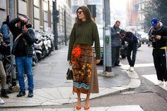 Giovanna Battaglia #streetstyle #mfw