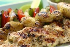 grilled potato and chicken