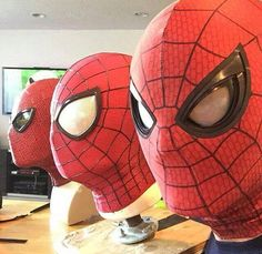 Spiderman masks #CaptainAmericaCivilWar