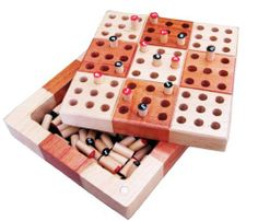 "Kenneth 5"" Wooden Travel Sudoku Set with Puzzle Book by Best Chess Set. $24.95. comes with free puzzle book. features magnetic closure. fits any small purse. board dimensions: 5x5x1.5 inches. has built in storage for pieces. Sudoku is a logic-based number placement puzzle. The objective is to fill a 9×9 grid so that each column, each row, and each of the nine 3×3 boxes (also called blocks or regions) contains the digits from 1 to 9 only one time each. The puzzle sett..."