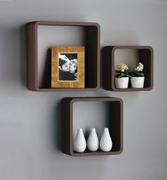 Square (box) floating shelf