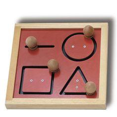 Geometric Tracking Board - Tag Toys