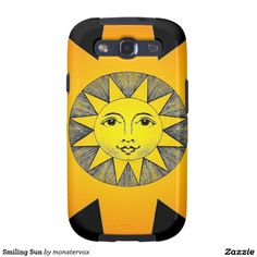 Smiling Sun Samsung Galaxy SIII Case #Sun #SunShine #Star #SoarSystem #Space #Mobile #Phone #Case #Cover #Samsung