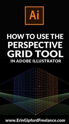 Adobe Illustrator Tutorial: How to use the perspective grid tool #illustratortutorial #graphicdesign #designtutorial #adobeillustrator