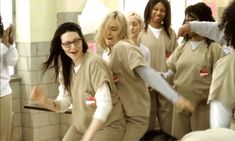 Pin for Later: Piper's Long Road to Becoming Orange Is the New Black's Biggest Badass She Even Starts to Have Some Fun With Her Fellow Inmates Aww yeah, a little light twerking.