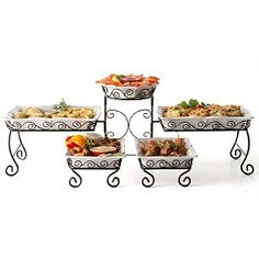 Amazon.com: Tiered Buffet server: Home & Kitchen