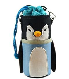 Lovely Baby Bottle Messenger Bag/Keep Warm (2299CM),Blue Penguin. Adjustable strap to attach anywhere. Our stylish design folds flat when not in use, or can snap on to baby stroller or carrier when in use. Stretches to fit one baby bottle, Sippy cup, juice box, etc. Dimensions: 22*9*9cm. The color is showed as picture.