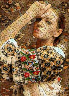 Mosaic Tile Art, Mosaic Artwork, Mosaic Crafts, Mosaic Projects, Stone Mosaic, Mosaic Glass, Stained Glass, Art Pierre, Mosaic Portrait