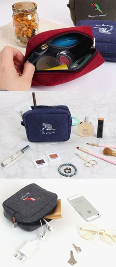 An animal-themed pouch? Why not? Organize and protect all your gadgets, makeup, and cosmetics with the Tailorbird Square Pouch. ^.~*
