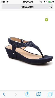 Navy small wedge heels
