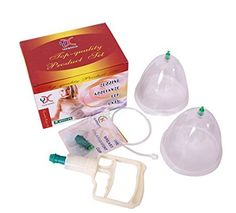 Woman Breast Vacuum Pump Large Breast Suction Twin 2 Cups Nipple Cupping Enhancer Breast Enlargement Firmer
