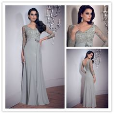 Sheath V Neck 2014 New Design Mother Of The Bride Dresses Pant Suits With Lace Evening Dresses Dove Grey Custon Made US $130.00