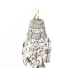 Valentino Haute Couture. Illustration by Alexandra Constantine.