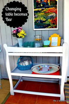 Changing Table turned into a summer bar.