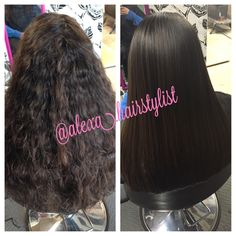 Before and after überliss smoothing treatment