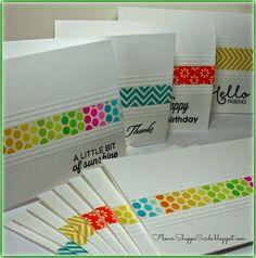 Flower Shoppe Cards: Washi Tape Note Card Set