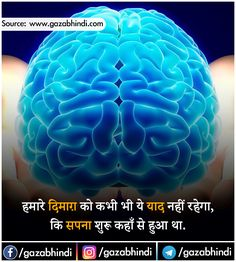 Dimag: दिमाग के बारे में 35 रोचक तथ्य । Brain In Hindi - ←GazabHindi→ General Knowledge Book, Gernal Knowledge, Knowledge Quotes, Amazing Science Facts, Some Amazing Facts, Wow Facts, Real Facts, Mind Power Quotes, Funny Weird Facts
