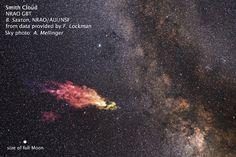 Un nuage de gaz fonce sur la Voie lactée