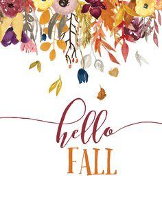Free Hello Fall Printable