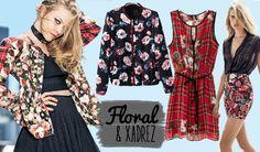 Looks & Curiosidades: Moda:Xadrez + Floral