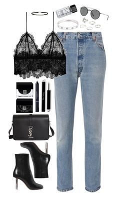 """""""Untitled #497"""" by lindsjayne ❤ liked on Polyvore featuring RE/DONE, Anine Bing, Vetements, Yves Saint Laurent, Christian Dior, Givenchy, Cartier, MANGO, Ray-Ban and Bobbi Brown Cosmetics"""