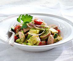 Sommerlicher Wurst-Käse-Salat