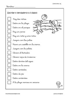 Learn Spanish Free Worksheets For Kids Spanish Classroom Activities, Language Activities, Spanish Lessons, Teaching Spanish, Learn Spanish, Learning Sight Words, Bilingual Education, Speech Language Therapy, Lectures