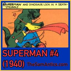 Superman #4 (1940). Who else but Superman?