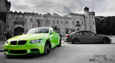 BMW E92 M3 duo green and grey