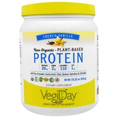 Natural Factors, Raw Organic, Plant-Based Protein, French Vanilla, 19.22 oz (545 g)