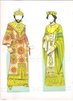 Byzantine Costumes Paper Dolls