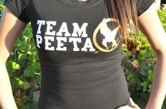 Team Peeta Hunger Games TShirt Size Small to by jerryamsterdam, $15.95