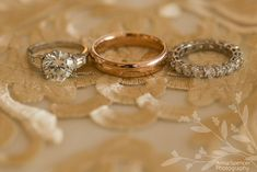 Anna and Spencer Photography, Atlanta Wedding Photographers. Silver & Rose Gold Wedding Rings.