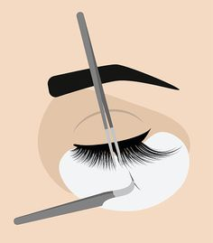 Procedure for eyelash extension. Master tweezers add the false or fake cilia to … Procedure for eyelash extension. Master tweezers add the false or fake cilia to the client. Eyelash Extensions Aftercare, Eyelash Extensions Salons, Eyelash Logo, Eyelash Salon, Artificial Eyelashes, Fake Lashes, Lash Quotes, Lashes Logo, Lash Room