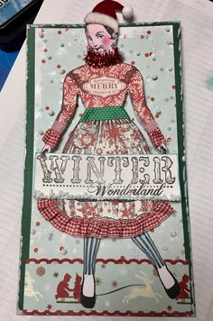 Favorite Christmas Carol Tag Swap using Character Construction stamps. December 2016. Artist: Cathy Arnold.