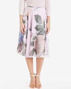 Distinguishing rose midi skirt - Lilac | Skirts | Ted Baker UK