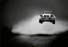 Audi Quattro Turbo Coupe......flying! Ok, so I admit this isn't a 'beautiful' car but man does that look like FUN!!!