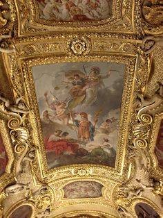 One of the many amazing ceilings at the Chateau de Versailles #iphonephoto #travel by mountainpete, via Flickr