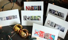 homemade xmas card ideas -we could do this