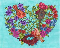 ColorIt Blissful Scenes Colorist: Lorrie Palmer #adultcoloring #coloringforadults #adultcoloringpages #scenes