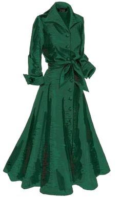 Made for mistletoe: J. Peterman Company's vintage-inspired silk dupioni dress. Image source Outfits vestidos green vintage dresses 12 best outfits - Page 9 of 12 - cute dresses outfits Cute Dress Outfits, Cute Dresses, Vintage Dresses, Vintage Outfits, Vintage Fashion, Green Outfits, 1950s Dresses, Vestidos Vintage, Dresses Dresses