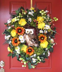 Summer Owl Wreath | IGW Gallery: Irish Girls Wreaths Complete Gallery
