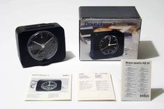 BRAUN PHASE 3 Alarm Clock - Dietrich Lubs - 1972 - with original box - RARE in…