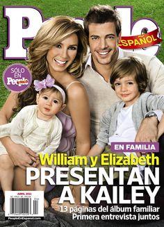 La familia de William Levy y Elizabeth Gutierrez
