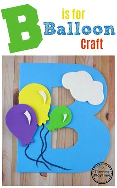 Letter B Craft with Free Printable Template for Preschool or Kindergarten