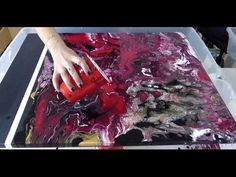 Fluid Acrylic Pouring Painting Red & Black - YouTube