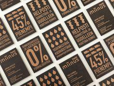 Business cards designed by Bond for Puustilli's new reductionist kitchen Miinus